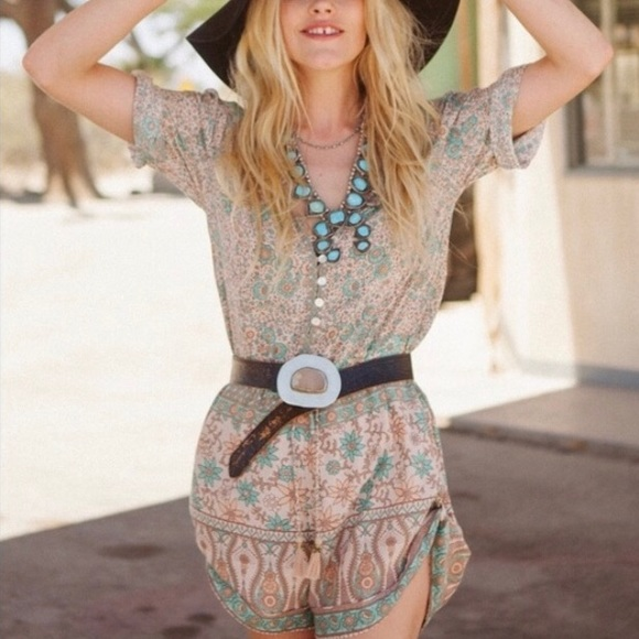 Spell & The Gypsy Collective Other - Spell and the Gypsy Boho Blossom Romper in Sage